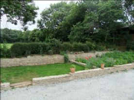 small lawn and part of veg garden