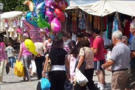 The fortnightly market in Ponte de Lima