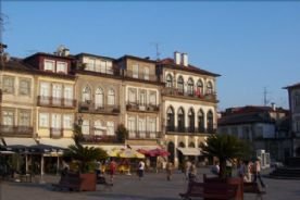 Main Square in Ponte de Lima, a venue for cultural activities and watching the world go by