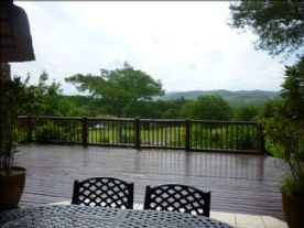 Deck overlooking golf course