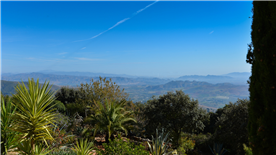 View over Guadalhorce Valley towards Malaga