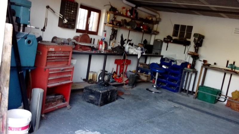 Lower floor: Garage/workshop 5.34 mtrs x 5.50