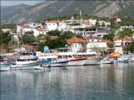 Kas harbour with the Turkish Gulets