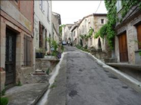 Rue du Barry upwards from the house