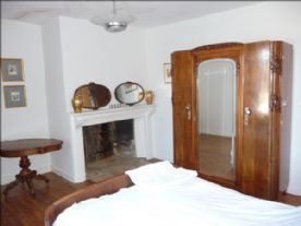Light & bright bedroom 1 with original fireplace