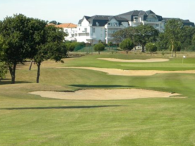 View of the mature golf course