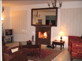 lounge with log fire