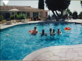 View of half the pool area
