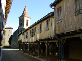 The heart of the village on a quiet day