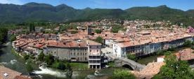 Panoramic view of the River Aude through Quillan