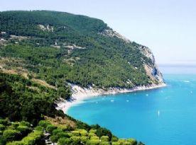 Nearby beach of Sirolo