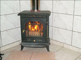 Wood burner in Dining room