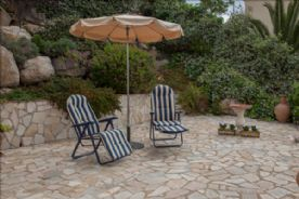 patio, rockery garden