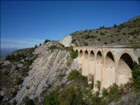 Railway viaduct below Colle Mitra
