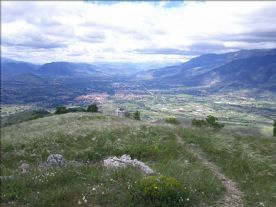 Sulmona valley from Colle Mitra