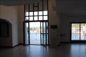 Reception area and exit to terrace