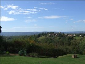 View from gîte to Queyssac Les Vignes