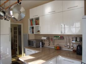 Kitchen from the French doors