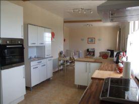 Gîte kitchen & living room