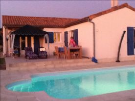 Peaceful evenings on the patio with the pool light on