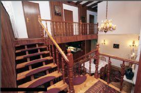 hotel stairs/lobby