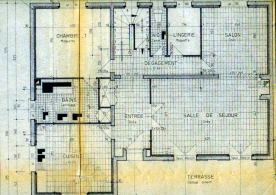 Architect's drawings of ground floor