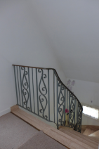 Wrought-iron stairs