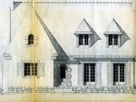 Architect's drawings of our facade