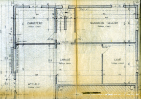Architect's drawings of  cellar