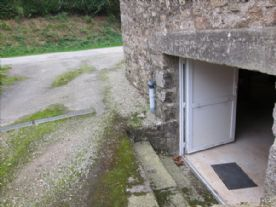 Double door to cellar