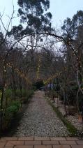 Archway in winter evening light