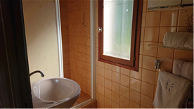 Pool house shower room