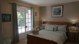 Terraced bedroom