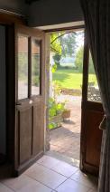 Sitting room door to terrasse and garden.