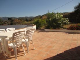 The winter terrace towards Guaro