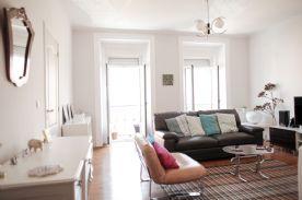 Large living room with views onto Avenida da Liberdade
