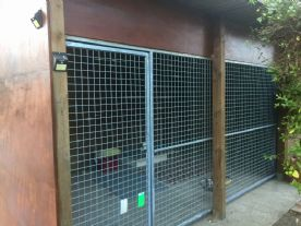large bespoke dog kennel, would support 3-4 dogs, or simply use as a secure caged compound.