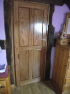 solid oak bespoke made doors to all bedrooms and bathroom