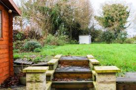 Steps upto garden area
