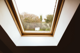 Velux window looking to garden at rear