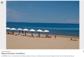 one of the beaches in La Marina 5 min drive