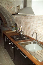 Beautiful galley kitchen with all mod cons.