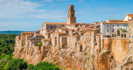 The medieval Tuscan hill town of Pitigliano