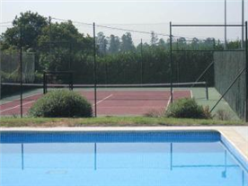 Pool and tennis court.