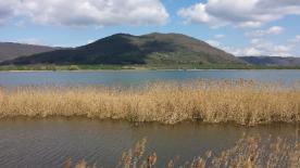 Looking across Lago di Vico to Monte Venere.