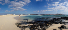 La Concha Beach with El Cotillo in the background