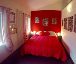 Bedroom of top floor apartment