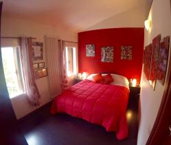 Top floor apartment bedroom