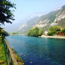 The river Brenta right outside the house and great for fishing