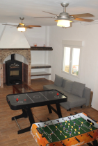 Games room in downstairs apartment has bunk bed and sofa bed (villa can sleep up to 12 people if).